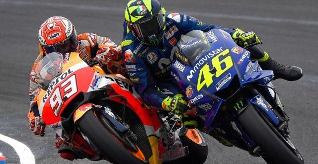 Marquez e Valentino Rossi